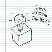 Pensar fuera de la caja — Vector de stock