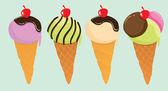 かわいいアイス クリーム — ストックベクタ