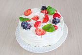Cake on table — Stock Photo