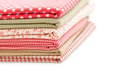 Colored fabrics — Stock Photo