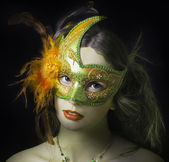 Woman in masquerade mask. — Stock Photo