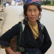 Stock Photo: Elderly womfrom Hmong tribe, Sapa, Vietnam