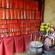 Стоковое фото: Display of prayer notes and burning incense, A-Mtemple, Macau
