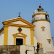 Chapel and lighthouse at GuiFortress, Macau, China — Stock Photo #12374965