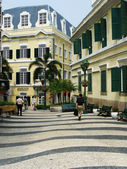 St. Augustine church and square, Macau, China — Stock Photo