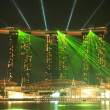 Light show at Marina Sand Bay Resort, Singapore — Stock Photo