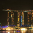 Stock Photo: MarinSand Bay Resort at night, Singapore