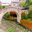 Crooked Bridge, Mostar, Bosnia and Herzegovina — Stock Photo