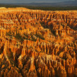 Amphitheater, view from Inspiration point at sunrise, Bryce Canyon National Park, Utah, USA — Stock Photo