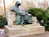 Statue of Anonymous, City Park, Budapest, Hungary — Stock Photo