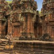 Banteay Srey temple, Angkor area, Siem Reap, Cambodia - Stock Photo