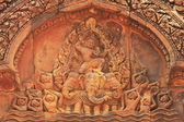 Decorative wall carvings, Banteay Srey temple, Angkor area, Siem Reap, Cambodia — Stock Photo