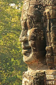 Stone face of Bayon temple, Angkor area, Siem Reap, Cambodia — Stock Photo