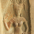 Wall bas-relief of Devata, Angkor Wat temple, Siem Reap, Cambodia — Stock Photo