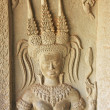 Wall bas-relief of Devatas, Angkor Wat temple, Siem Reap, Cambodia — Stock Photo #20784623