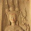 Wall bas-relief of Devata, Angkor Wat temple, Siem Reap, Cambodia — Stock Photo #20784831
