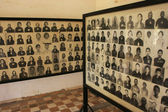 Photos of victims of the Khmer Rouge, Tuol Sleng Genocide Museum, Phnom Penh, Cambodia — Stock Photo