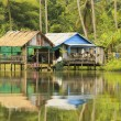 Stilt houses, Ream National Park, Cambodia - Stock Photo