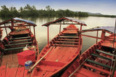Colorful boat at Ream National Park, Cambodia — Stock Photo