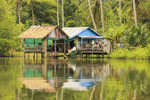 Stilt houses, Ream National Park, Cambodia — Stock Photo