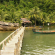 Wooden jetty at local village, Ream National Park, Cambodia — Stock Photo #23375174