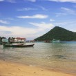 Koh Kon island seeing from Koh Rong Samlon island, Gulf of Thail — Stock Photo #23433174