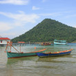 Koh Kon island seeing from Koh Rong Samlon island, Gulf of Thail — Stock Photo #23433480