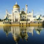 Постер, плакат: Sultan Omar Ali Saifudding Mosque Bandar Seri Begawan Brunei