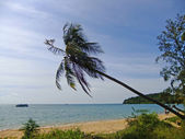 Beach at Koh Russei island, Gulf of Thailand, Cambodia — 图库照片