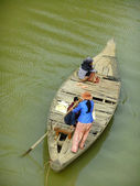 Traditional wooden boat, Cambodia — Foto Stock