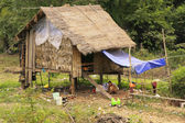Stilt houses in a small village near Kratie, Cambodia — Stockfoto