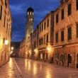 Old town at night, Dubrovnik, Croatia — Foto de Stock