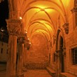 Sponza Palace at night, Dubrovnik, Croatia — Stock Photo