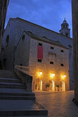 Old town at night, Dubrovnik, Croatia — Stock Photo