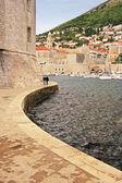 старая гавань в дубровник, хорватия — Стоковое фото