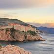 Old town of Dubrovnik at sunset, Croatia — Stock Photo