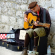 Street musician, Dubrovnik, Croatia — Stock Photo
