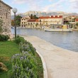 Waterfront of Hvar town, Hvar island, Croatia - Stock Photo