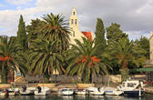Waterfront of Hvar town, Hvar island, Croatia — Stock Photo
