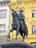Ban Jelacic statue, Jelacic Square, Zagreb, Croatia — Stock Photo