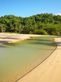 Freshwater river on a beach, Playa El Limon, Dominican Republic — Stock Photo