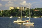 サマナ港のボート — ストック写真
