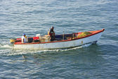 Fischerboot in der bucht von samana — Stockfoto