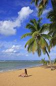 Las terrenas strand, schiereiland samana — Stockfoto