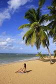 Strand von las terrenas, halbinsel samaná — Stockfoto