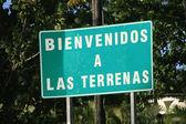 ラス テレナスに歓迎看板 — ストック写真