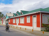 Colorful buildings, Las Terrenas — Stock Photo