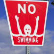 No swimming sign — Foto de Stock