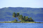 Small island near Las Galeras beach, Samana peninsula — Stock Photo