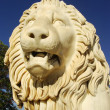 Sculptire of Medici lion, southern facade of Vorontsov palace, A — Stock Photo